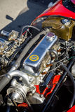 Cluj-Napoca, Romania - 24 September 2016 Klausenburg Retro Racing - Stanguellini Formula Junior racing car 4 stroke engine detail. Stanguellini Formula Junior Stock Photography
