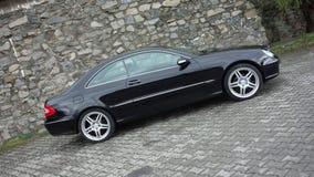 Cluj Napoca/Roumanie 7 avril 2017 : Coupé de Mercedes Benz W209 - l'année 2005, équipement d'élégance, métallique noir, l'alliage Photo libre de droits