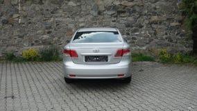 Cluj Napoca/Roumanie 9 mai 2017 : Exécutif de berline de Toyota Avensis - l'année 2010, équipement de remontée du visage, métalli Images stock