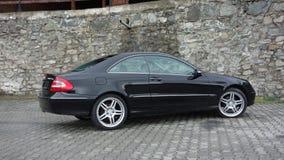 Cluj Napoca/Rumania 7 de abril de 2017: Cupé de Mercedes Benz W209 - año 2005, equipo de la elegancia, ruedas de 19 pulgadas, opi Imagen de archivo