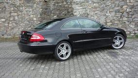 Cluj Napoca/Rumania 7 de abril de 2017: Cupé de Mercedes Benz W209 - año 2005, equipo de la elegancia, ruedas de 19 pulgadas, opi Fotografía de archivo libre de regalías