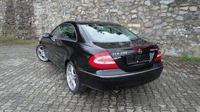 Cluj Napoca/Rumania 7 de abril de 2017: Cupé de Mercedes Benz W209 - año 2005, equipo de la elegancia, ruedas de 19 pulgadas, opi Imágenes de archivo libres de regalías