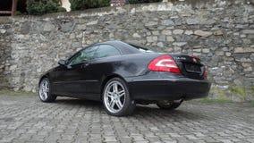 Cluj Napoca/Rumania 7 de abril de 2017: Cupé de Mercedes Benz W209 - año 2005, equipo de la elegancia, ruedas de 19 pulgadas, opi Fotografía de archivo