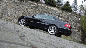 Cluj Napoca/Rumania 7 de abril de 2017: Cupé de Mercedes Benz W209 - año 2005, equipo de la elegancia, ruedas de 19 pulgadas, opi Imagen de archivo libre de regalías