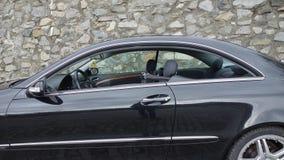 Cluj Napoca/Rumania 7 de abril de 2017: Cupé de Mercedes Benz W209 - año 2005, equipo de la elegancia, ruedas de 19 pulgadas, vis Imágenes de archivo libres de regalías