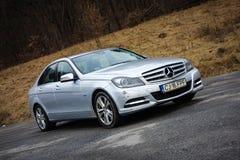 Cluj Napoca, Rumunia, Styczeń/- 06, 2018: Mercedez Benz W204- rok 2012, lifting twarzy, Avantgarde wyposażenie, luksusowy rzemien Obrazy Royalty Free