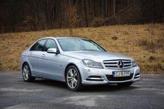Cluj Napoca, Rumunia, Styczeń/- 06, 2018: Mercedez Benz W204- rok 2012, lifting twarzy, Avantgarde wyposażenie, luksusowy rzemien Zdjęcie Royalty Free