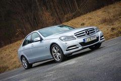 Cluj Napoca, Rumunia, Styczeń/- 06, 2018: Mercedez Benz W204- rok 2012, lifting twarzy, Avantgarde wyposażenie, luksusowy rzemien Obraz Stock