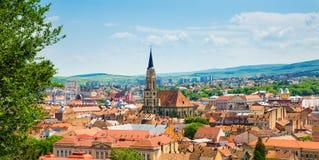Cluj Napoca sikt royaltyfria bilder