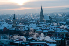 Cluj-Napoca skyline in the morning Stock Photography
