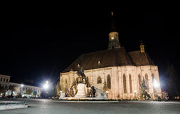 Cluj Napoca St. Michael Church in the Unirii Square Royalty Free Stock Photo