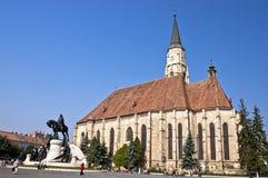 Cluj-Napoca. St. Michael Kerk. Royalty-vrije Stock Afbeeldingen