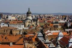 Cluj - Napoca-Stad van hierboven Stock Afbeeldingen