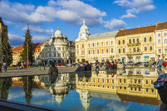 Cluj-Napoca. The theater in the center of Cluj-Napoca city Stock Image