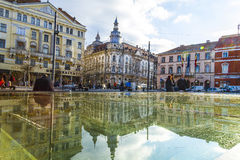 Cluj-Napoca. The theater in the center of Cluj-Napoca city Royalty Free Stock Image