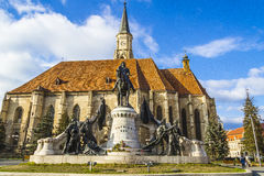 Cluj-Napoca. The theater in the center of Cluj-Napoca city Royalty Free Stock Photos
