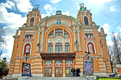 Cluj Napoca theatre Stock Photo