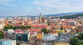 Cluj Napoca upperview Stock Foto's