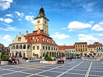 Cluj Napoca vierkant Royalty-vrije Stock Afbeeldingen
