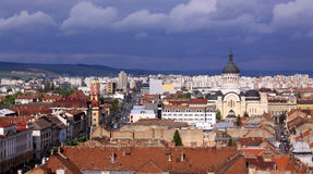 Cluj-Napoca view from St. Michael's Church tower Stock Photo