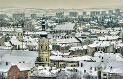 Cluj Napoca. Winter cityscape from Romania, Transsylvania Stock Image