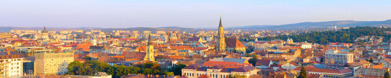 Cluj Napoka overlooking, Romania Royalty Free Stock Image