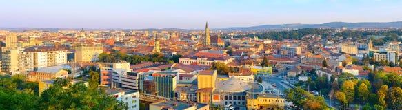 Cluj Napoka panorama, Rumänien Arkivfoton
