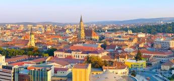 Cluj Napoka panoramautsikt, Rumänien Royaltyfria Foton