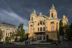 Cluj nationaal theater Royalty-vrije Stock Afbeelding