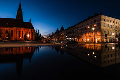 Cluj never sleeps. Night in Cluj-Napoca city Royalty Free Stock Photos