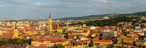 Cluj panorama Royaltyfri Fotografi