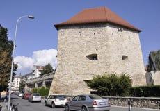 cluj RO, Wrzesień 23th: Krawczyny bastion w cluj od Transylvania w Rumunia Fotografia Stock