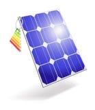Célula solar. Imagem de Stock