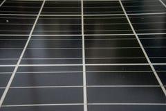 Célula solar, sol renovable de la energía eléctrica del panel voltáico de la foto de la energía solar Foto de archivo libre de regalías