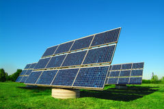 Células solares Imagens de Stock