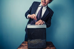 Clumsy businessman Royalty Free Stock Image