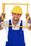 Clumsy manual worker Stock Image