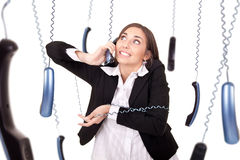 Clumsy secretary royalty free stock photo