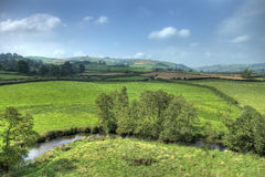 Clun landscape, Shropshire Royalty Free Stock Photo