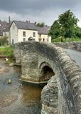 Clun, Shropshire. The old packhorse bridge at Clun, Shropshire, England Stock Images