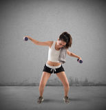 Clunky workout Stock Photography