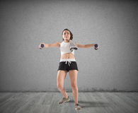 Clunky workout Royalty Free Stock Image
