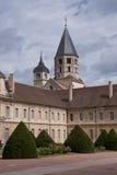 cluny修道院的塔 免版税图库摄影