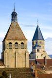 cluny的修道院 库存图片