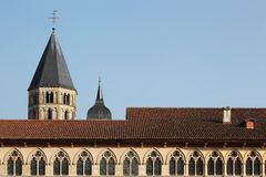 The abbey of Cluny Stock Image