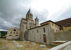 Cluny cathedral. Rest of the big cluny cathedral in burgundy in france Stock Photography