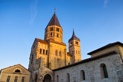 Cluny kyrka i Frankrike Arkivbilder