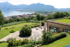 Clusane, lago Iseo, Italia immagini stock