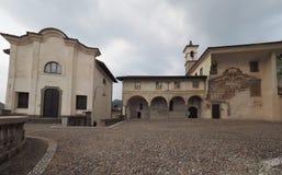 Clusone Bérgamo, Lombardía, Italia - dei Disciplini del oratorio: Danza de la muerte fotos de archivo