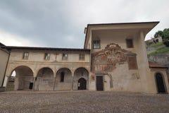 Clusone Bérgamo, Lombardía, Italia - dei Disciplini del oratorio: Danza de la muerte imagen de archivo libre de regalías